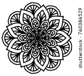 mandalas for coloring book.... | Shutterstock .eps vector #760386529