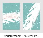 set of abstract hand drawn... | Shutterstock .eps vector #760391197