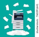office multifunction machine.... | Shutterstock .eps vector #760391641