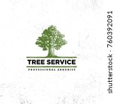 professional arborist tree care ... | Shutterstock .eps vector #760392091