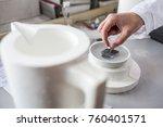 hands of a scientist working in ... | Shutterstock . vector #760401571