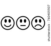 smileys emoticons icon positive ... | Shutterstock .eps vector #760405507