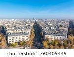 paris  panorama from arc de... | Shutterstock . vector #760409449