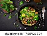 dietary menu. healthy vegan... | Shutterstock . vector #760421329