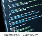 information technology concept. ... | Shutterstock . vector #760422229