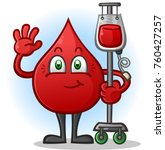 blood donor transfusion cartoon ... | Shutterstock .eps vector #760427257