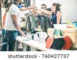 young employee startup workers...   Shutterstock . vector #760427737
