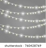 christmas lights isolated on... | Shutterstock .eps vector #760428769
