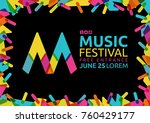idea for poster of music event. ... | Shutterstock .eps vector #760429177