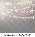 christmas lights isolated on... | Shutterstock .eps vector #760429321