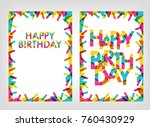 text happy birthday with... | Shutterstock .eps vector #760430929