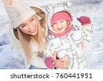 mom plays with the child in... | Shutterstock . vector #760441951