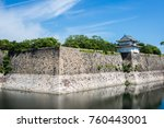 japanese castle in japan. | Shutterstock . vector #760443001