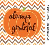 hand drawn thanksgiving autumn... | Shutterstock .eps vector #760446559