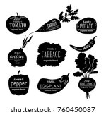 vector vegetables logo.... | Shutterstock .eps vector #760450087