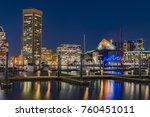 dazzling night cityscape of... | Shutterstock . vector #760451011