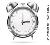 alarm clock. retro style.... | Shutterstock .eps vector #760453879