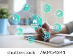 smart home automation concept... | Shutterstock . vector #760454341