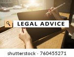 legal advice ext on virtual... | Shutterstock . vector #760455271