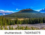 the wooded mountains around... | Shutterstock . vector #760456075