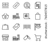 thin line icon set   money ... | Shutterstock .eps vector #760457815