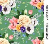 floral seamless pattern | Shutterstock .eps vector #760461589