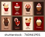 set of christmas brochures.... | Shutterstock .eps vector #760461901