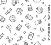 seamless pattern with sweets ... | Shutterstock .eps vector #760464061