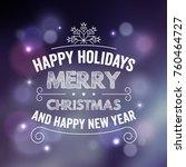 typographic christmas design  ... | Shutterstock .eps vector #760464727
