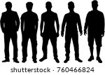 black silhouette of a man. | Shutterstock .eps vector #760466824