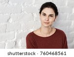 portrait of smiling young adult ... | Shutterstock . vector #760468561
