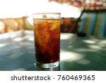 Cola In Glass With Ice