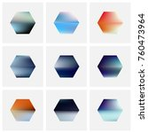 set of nine abstract vector... | Shutterstock .eps vector #760473964