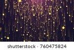 gold stars background | Shutterstock . vector #760475824