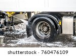 truck washing in the open air | Shutterstock . vector #760476109