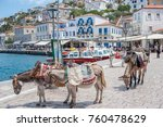 hydra  greece   may 30  the... | Shutterstock . vector #760478629