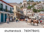 hydra  greece   may 30  the... | Shutterstock . vector #760478641