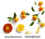 creative flat layout of fruit ... | Shutterstock . vector #760488364
