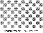 black and white kaleidoscopic... | Shutterstock . vector #760491799