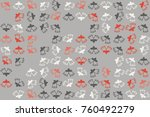 christmas pattern with... | Shutterstock .eps vector #760492279