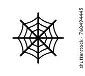spider web icon   black sign... | Shutterstock .eps vector #760494445