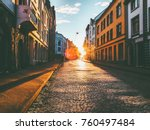 man walking alone at sunset... | Shutterstock . vector #760497484