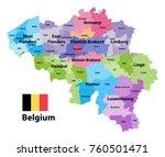 belgium map showing  the... | Shutterstock .eps vector #760501471