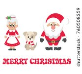 Cartoon Mrs Santa And Santa...