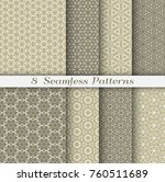 seamless patterns set in... | Shutterstock .eps vector #760511689