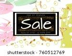 gold shiny glitter sale... | Shutterstock .eps vector #760512769
