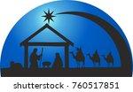 christmas nativity scene | Shutterstock .eps vector #760517851