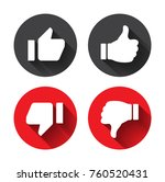 thumb up vector icon. style is... | Shutterstock .eps vector #760520431