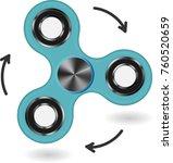 hand fidget spinner toy  ...   Shutterstock .eps vector #760520659