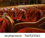 empty baroque theater seats. | Shutterstock . vector #760525561